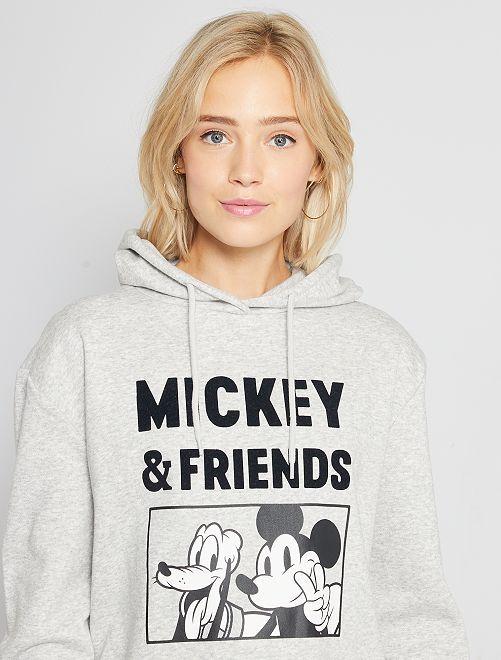 Sweat à capuche 'Mickey'                                                                                         gris Mickey