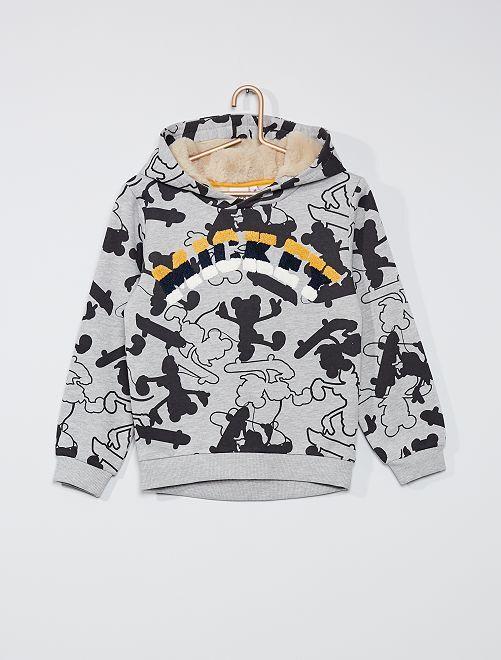 Sweat à capuche 'Mickey'                                         gris/noir