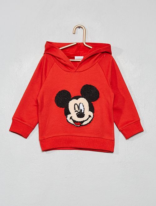 Sweat à capuche 'Mickey'                                         rouge
