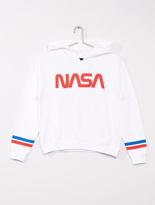 Sweat à capuche 'NASA'                             blanc