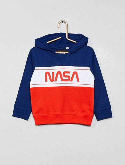 Sweat à capuche 'Nasa'                             bleu marine