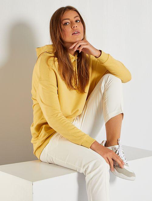 Sweat à capuche oversize                                                     jaune
