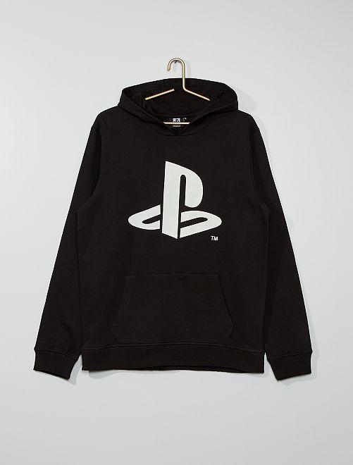 Sweat à capuche 'Playstation' de 'Sony'                             noir