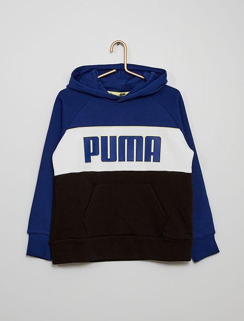 Sweat à capuche 'Puma' tricolore                             bleu