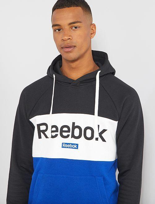 Sweat à capuche 'Reebok'                             noir/bleu Homme