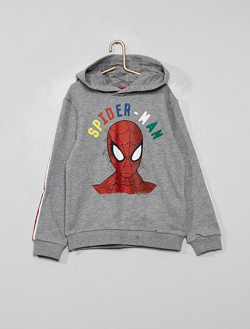 Sweat à capuche 'Spider-Man'                             gris