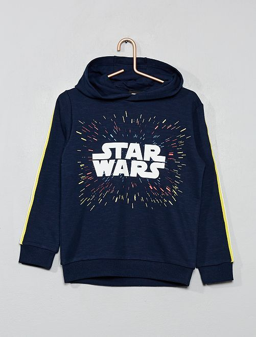 Sweat à capuche 'Star Wars'                             bleu marine