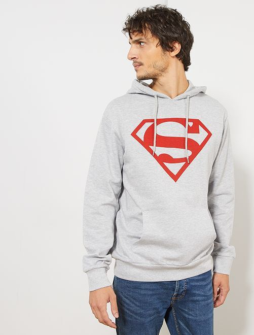 Sweat à capuche 'Superman'                             gris
