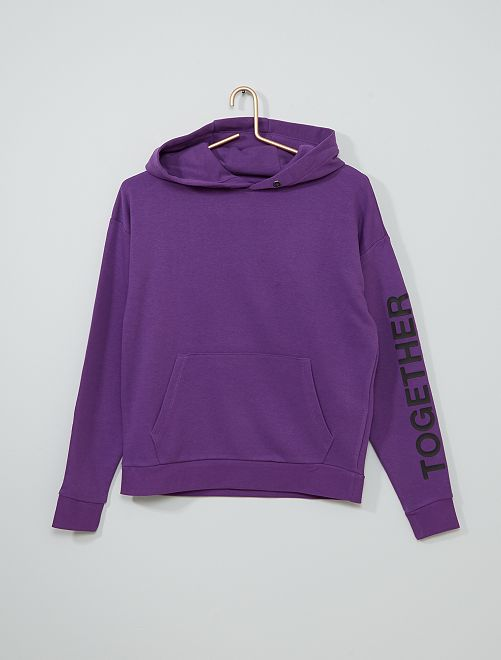 Sweat à capuche                             violet