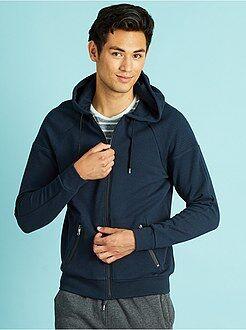Sweat zippé - Sweat à capuche zippé bleu marine