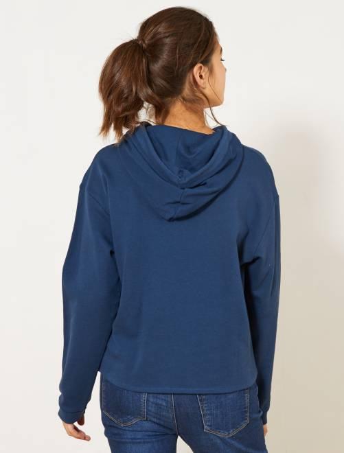 59cdfe01021 Sweat à message en coton bio Femme - écru - Kiabi - 10
