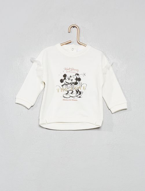 Sweat à volants 'Disney'                                         blanc