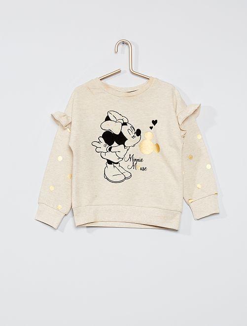 Sweat à volants 'Minnie'                             beige
