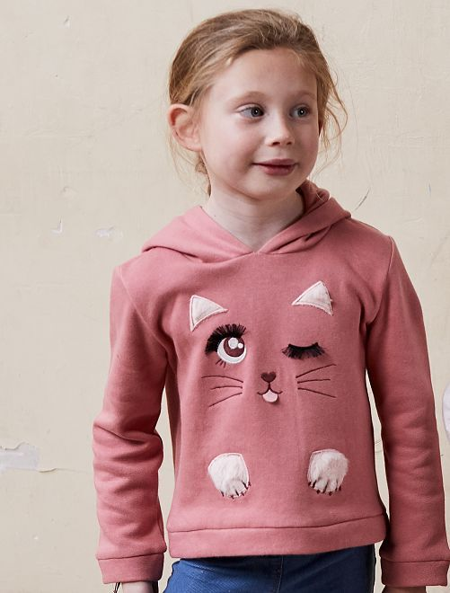 Sweat animation 'Licorne'                     rose