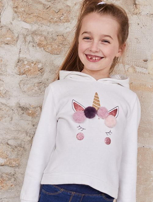 Sweat animation 'Panda'                                 blanc Fille