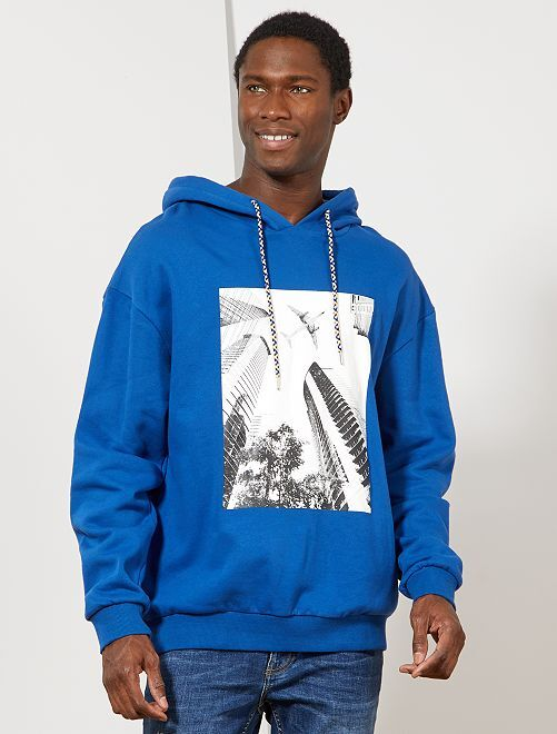 Sweat avec print 'avion'                                                                 bleu