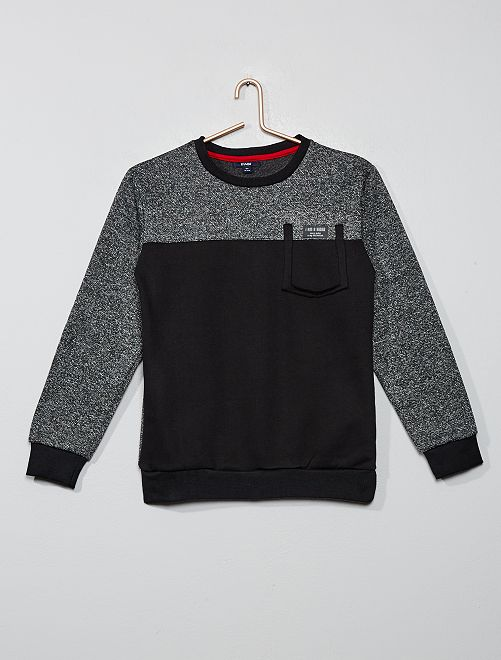 Sweat bicolore                                         gris
