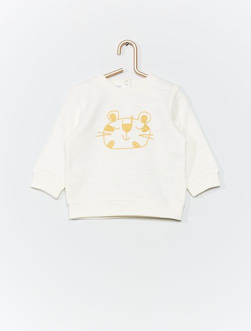 Sweat brodé 'animaux'                                                                             blanc
