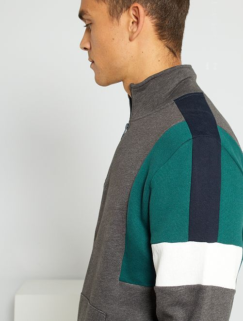 Sweat camionneur color block                                         GRIS