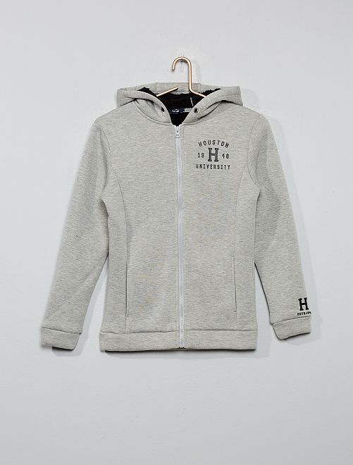 Sweat chaud zippé                                                     gris