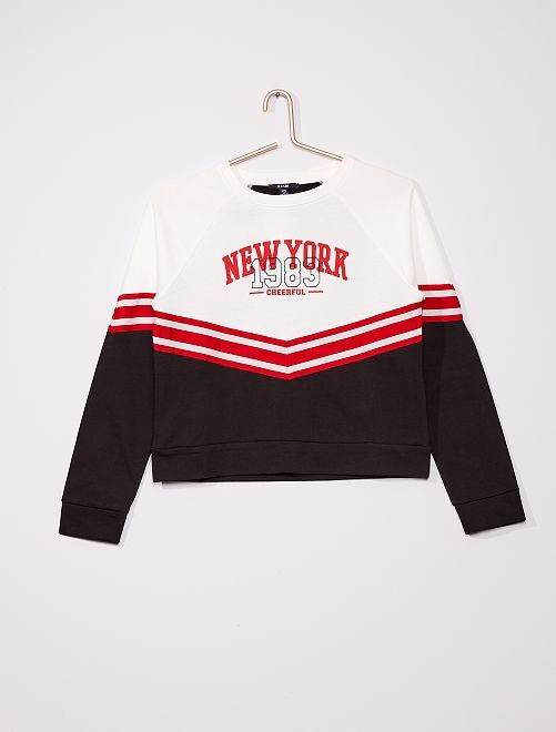 Sweat 'cheerleader'                             noir/blanc/rouge