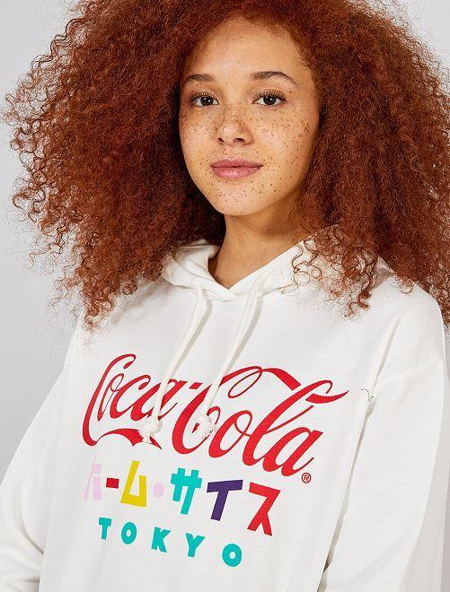 Sweat 'Coca Cola'                             blanc Femme