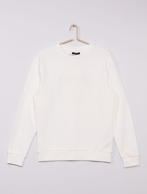 Sweat col rond 'Advanced apparel'                                                                 BLANC