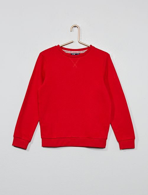 Sweat col rond                                                     rouge