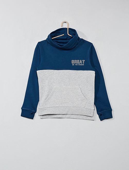 Sweat col tubulaire                     bleu/gris Garçon