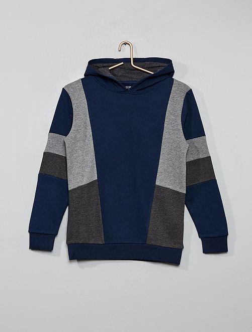 Sweat color block                                         bleu gris