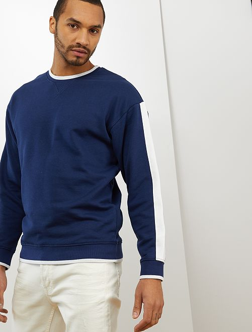 Sweat color block                                         bleu marine