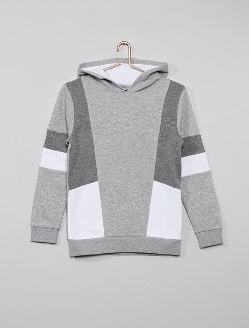 Sweat color block                                         gris