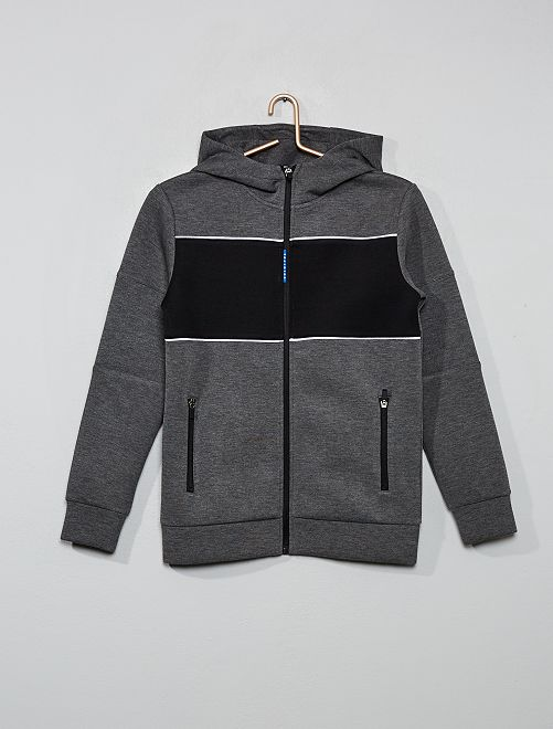 Sweat color block                                                                 gris