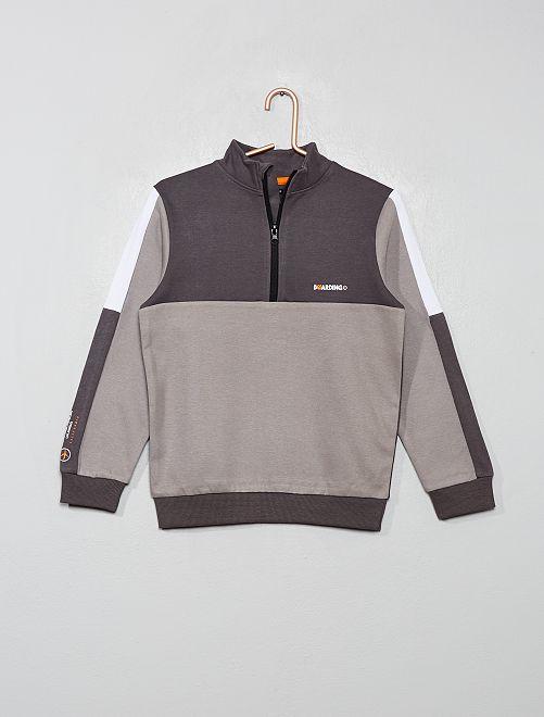 Sweat color-block                                                     gris