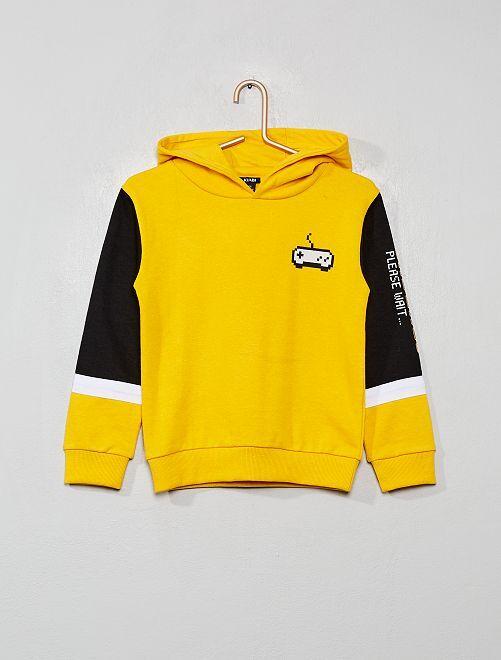 Sweat color-block                             jaune