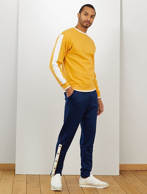 Sweat color block                                         jaune