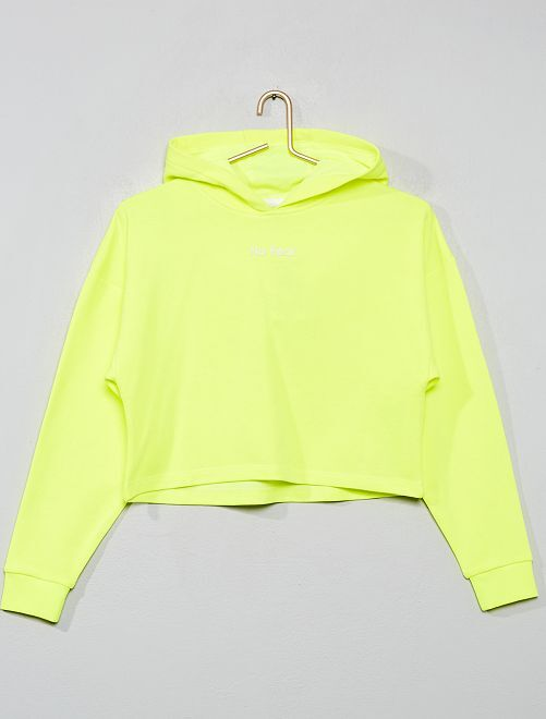 Sweat crop fluo                             jaune fluo