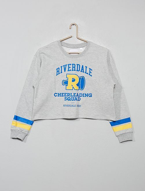 Sweat cropped 'Riverdale'                                         gris