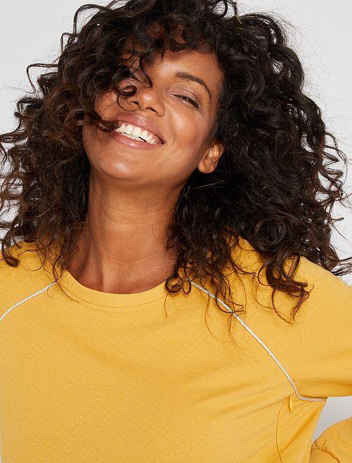 Sweat d'allaitement en lurex                                         jaune