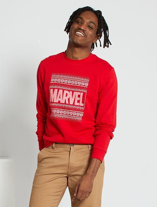 Sweat de Noël 'Marvel'                             rouge