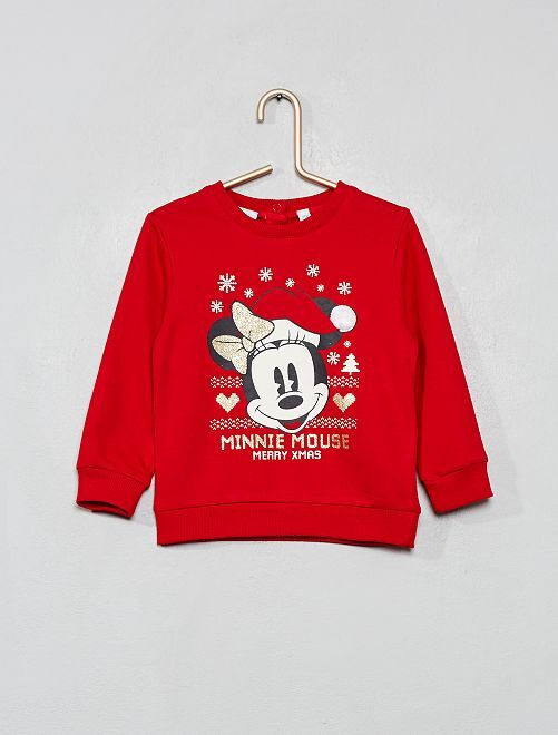 Sweat de Noël 'Minnie'                             rouge