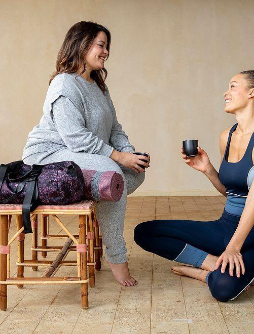 Sweat de yoga maille doudou                                         gris