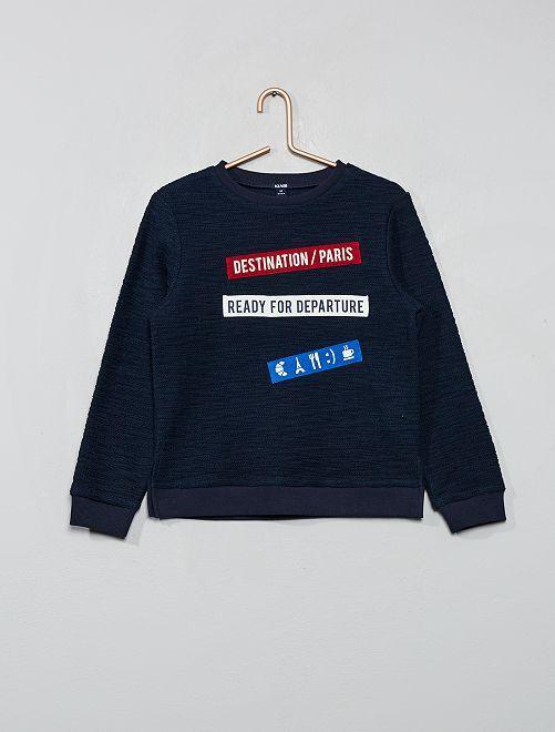 Sweat 'destination Paris'                                 bleu marine