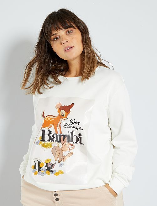 Sweat 'Disney'                                                                                                                 blanc bambi