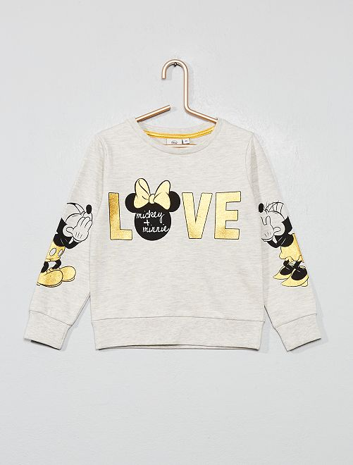 Sweat 'Disney'                             gris chiné clair