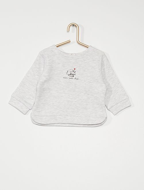 Sweat en french terry                                         gris