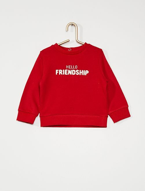 Sweat en french terry                                                                             rouge