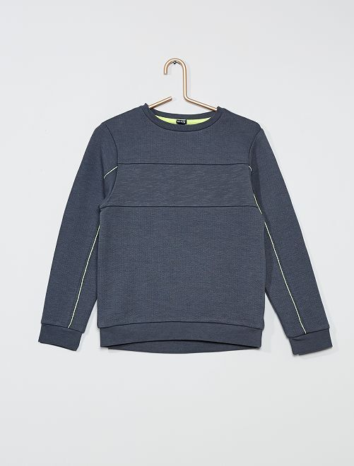 Sweat en molleton col rond                                         gris