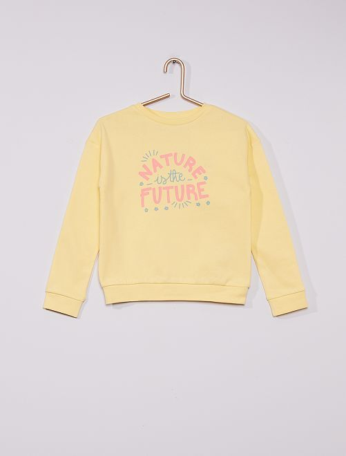 Sweat en molleton éco-conçu                                                                                                                                         jaune