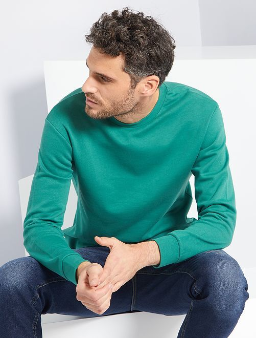 Sweat en molleton éco-conçu                                                                                                     vert